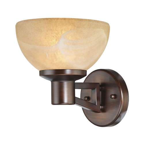 Design Classics Lighting Single Light Sconce with Mojave Glass Shade 2826-133
