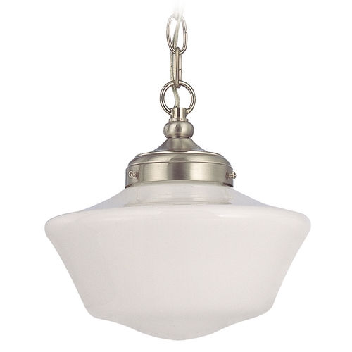 Design Classics Lighting 10-Inch Schoolhouse Mini-Pendant Light with Chain FA4-09 / GA10 / A-09