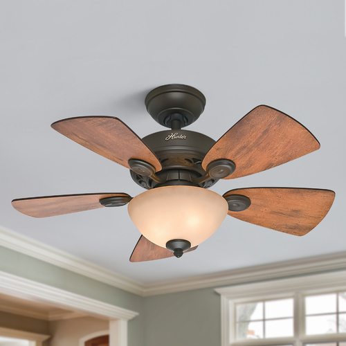 Hunter Fan Company Hunter Fan Company Watson New Bronze Ceiling Fan with Light 52090