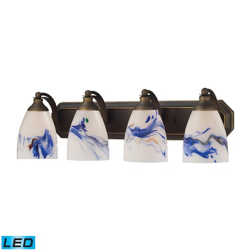 Elk Lighting Elk Lighting Bath and Spa Aged Bronze LED Bathroom Light 570-4B-MT-LED