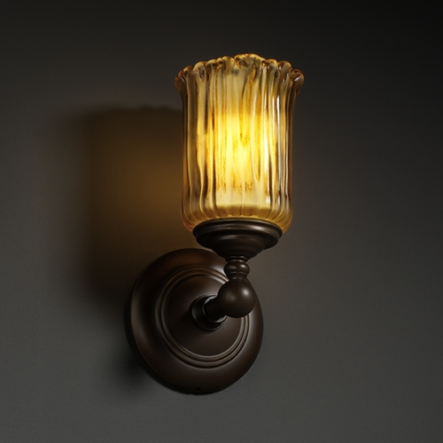 Justice Design Group Justice Design Group Veneto Luce Collection Sconce GLA-8521-16-AMBR-DBRZ