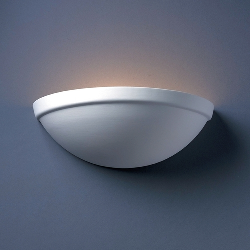 Justice Design Group Sconce Wall Light in Bisque Finish CER-2050-BIS