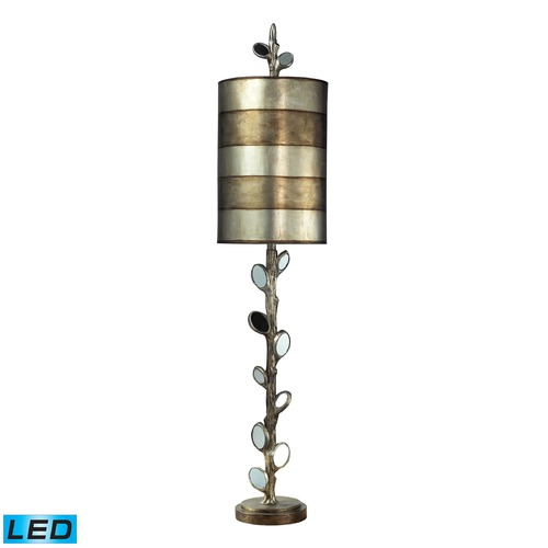 Dimond Lighting Dimond Lighting Mirror, Antique Silver LED Table Lamp with Cylindrical Shade 93-9111-LED