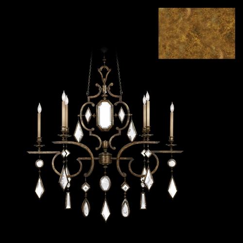Fine Art Lamps Fine Art Lamps Encased Gems Gold Leaf Crystal Chandelier 726040-3ST
