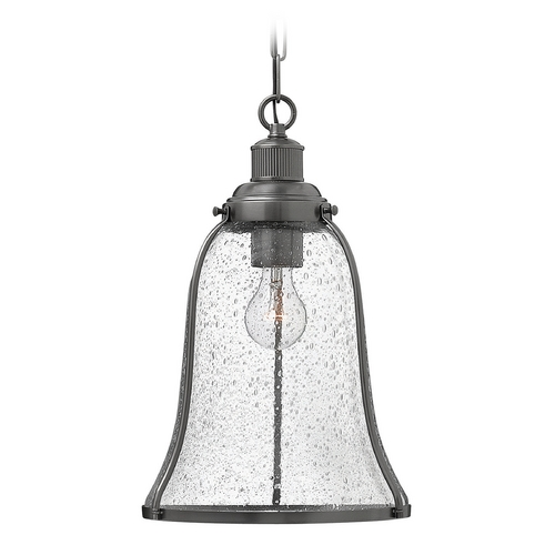 Hinkley Lighting Hinkley Lighting Marlowe Antique Nickel Pendant Light with Bell Shade 3494AN
