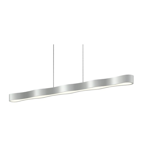 Sonneman Lighting Sonneman Corso Linear Bright Satin Aluminum LED Pendant Light   1735.16
