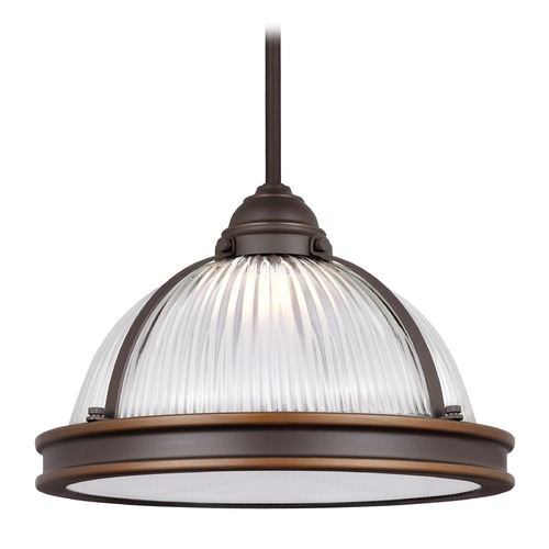 Sea Gull Lighting Sea Gull Pratt Street Prismatic Autumn Bronze LED Pendant Light 6506191S-715