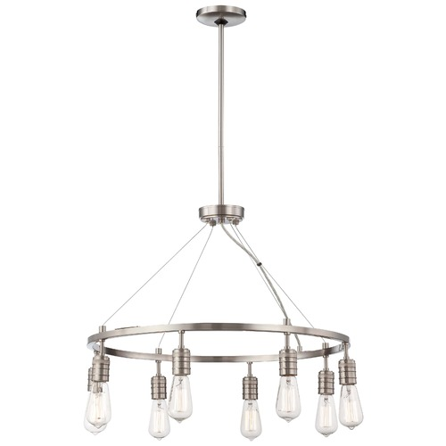 Minka Lavery Downtown Edison Brushed Nickel Chandelier 4138-84