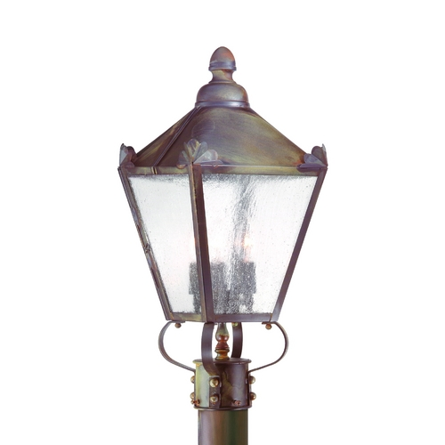Troy Lighting Post Light with Clear Glass in Charred Iron Finish P8944CI