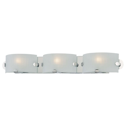 George Kovacs Lighting Modern Bathroom Light with White Glass in Chrome Finish P5253-077
