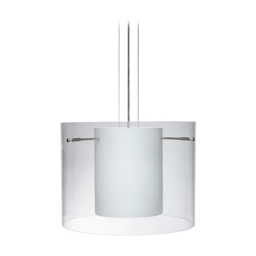 Besa Lighting Modern Pendant Light Satin Nickel by Besa Lighting 1KG-C00707-SN