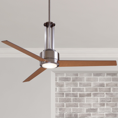 Minka Aire 56-Inch Ceiling Fan with Three Blades and Light Kit F531-L-BN