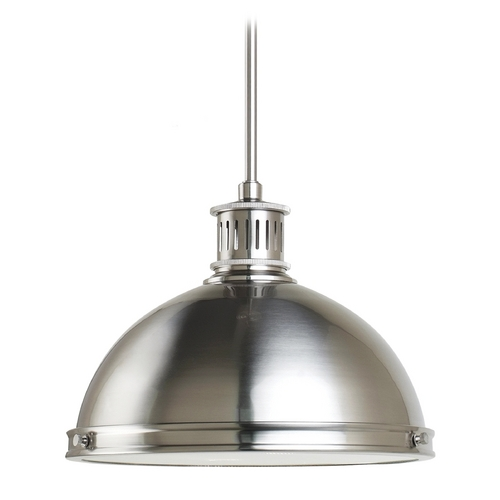 Sea Gull Lighting Pendant Light in Brushed Nickel Finish 65086BLE-962
