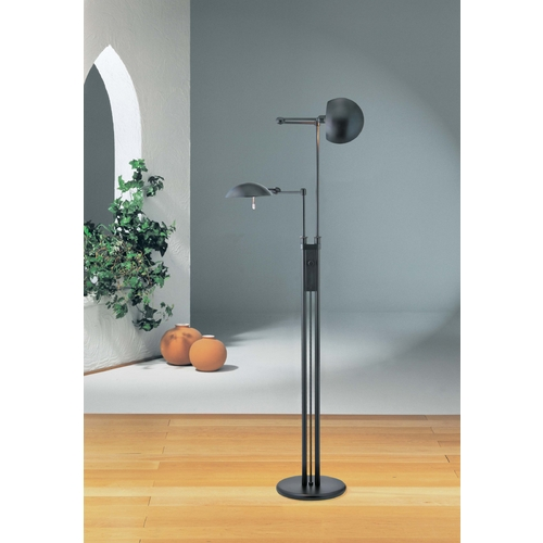 Holtkoetter Lighting Holtkoetter Modern Floor Lamp in Hand-Brushed Old Bronze Finish 2505 HBOB