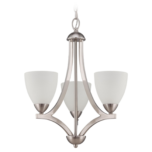 Craftmade Lighting Craftmade Hartford Satin Nickel Mini-Chandelier 37723-SN