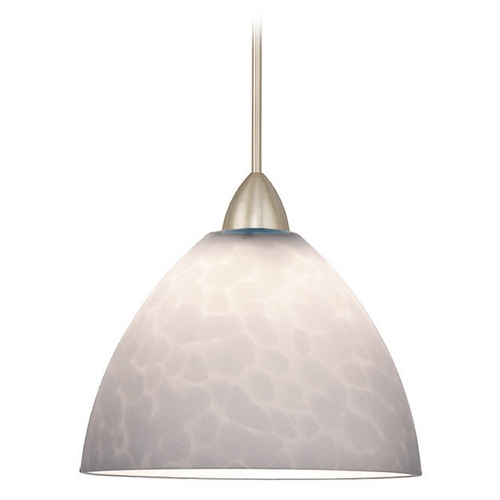 WAC Lighting WAC Lighting Americana Collection Brushed Nickel Mini-Pendant with Bowl / Dome Shad MP-541-WT/BN