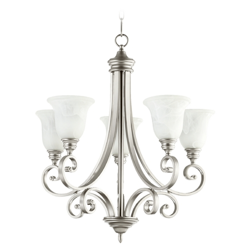 Quorum Lighting Quorum Lighting Bryant Classic Nickel Chandelier 6154-5-64