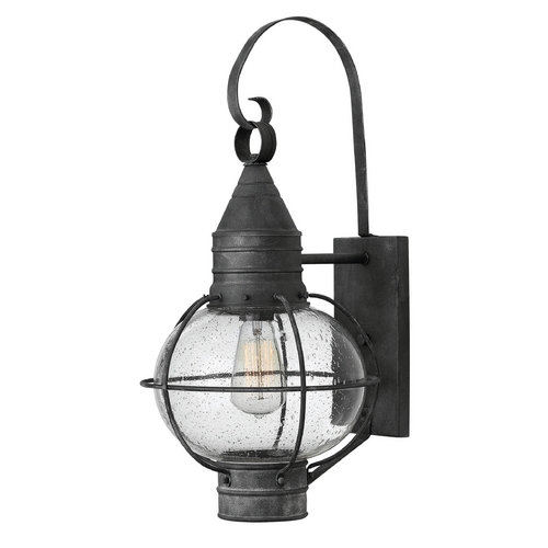 Hinkley Seeded Glass Outdoor Wall Light Zinc Hinkley 2204DZ