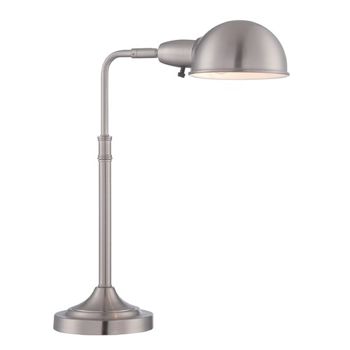 Lite Source Lighting Lite Source Lucian Satin Nickel Desk Lamp LS-22682