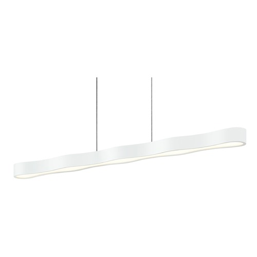 Sonneman Lighting Sonneman Corso Linear Textured White LED Pendant Light 1735.98