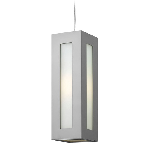 Hinkley Lighting Hinkley Lighting Dorian Titanium LED Outdoor Hanging Light 2192TT-LED