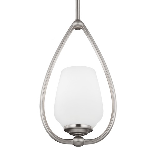 Feiss Lighting Feiss Vintner Satin Nickel Mini-Pendant Light P1329SN