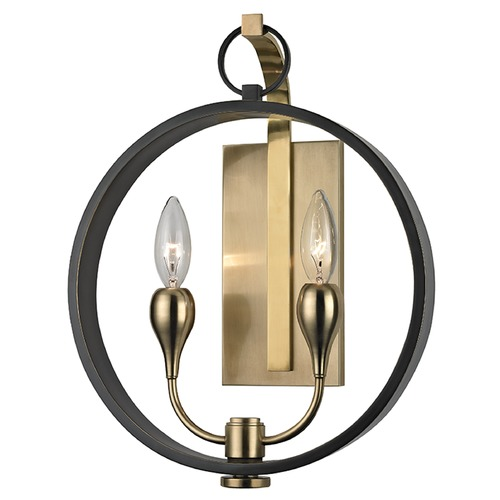 Hudson Valley Lighting Mid-Century Modern Sconce Bronze 2-Lt by Hudson Valley 6702-AOB
