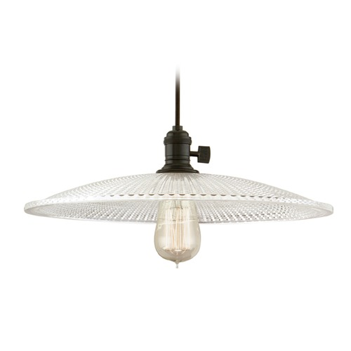 Hudson Valley Lighting Hudson Valley Lighting Heirloom Old Bronze Pendant Light with Bowl / Dome Shade 8002-OB-GL4
