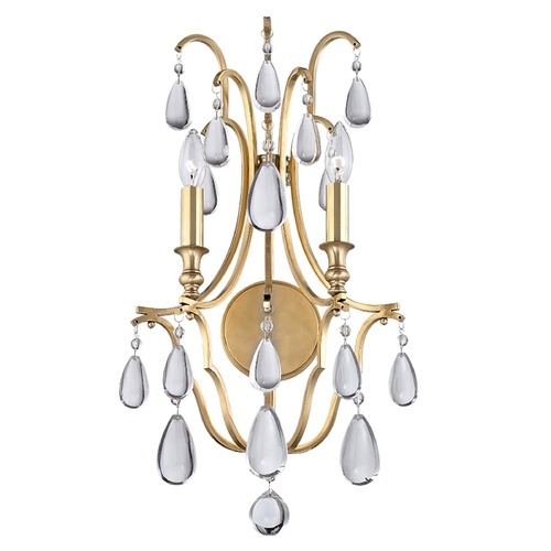 Hudson Valley Lighting Hudson Valley Lighting Crawford Aged Brass Sconce 9302-AGB