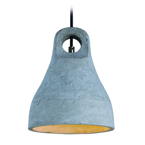 Maxim Lighting Maxim Lighting International Crete Polished Chrome LED Mini-Pendant Light with Bowl / Dome Shade 12398GYPC