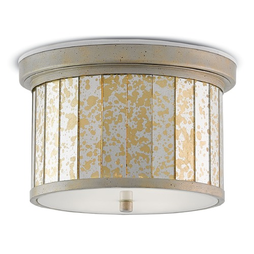 Currey and Company Lighting Currey and Company Pavola Silver /gold Leaf Flushmount Light 9999-0015