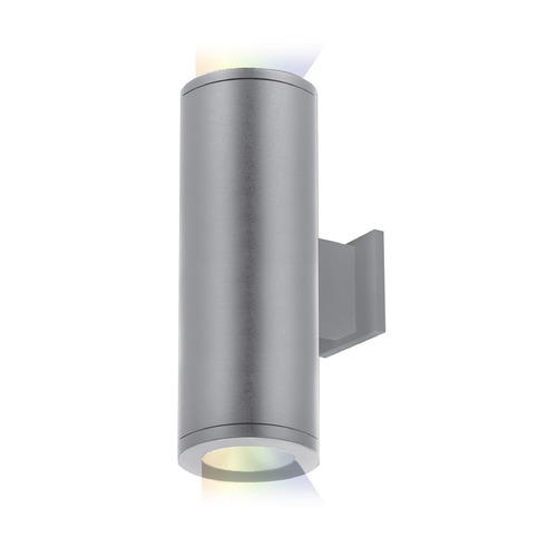 WAC Lighting Tube Architectural 5-Inch LED Color Changing Up and Down Wall Light DS-WD05-SS-CC-GH