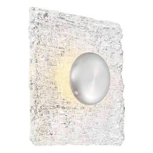 Nuvo Lighting Satco Lighting Riverbed Polished Nickel LED Flushmount Light 62/1491