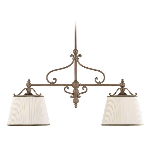 Hudson Valley Lighting Drum Island Light with White Shades in Historic Bronze Finish 7712-HB