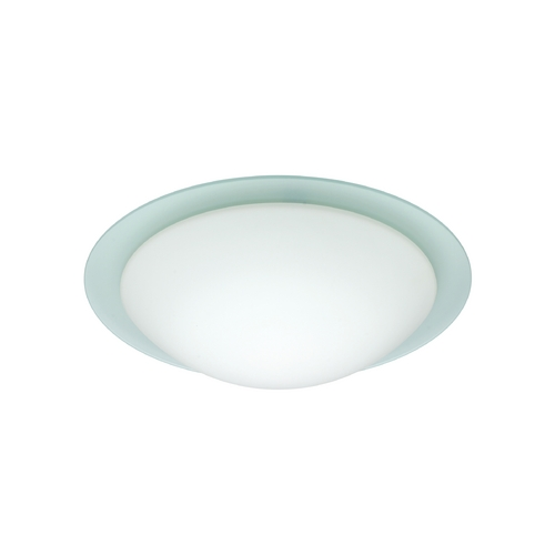 Besa Lighting Flushmount Light with White Glass 977125C