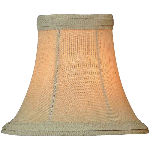 Lite Source Lighting Beige Bell Lamp Shade with Clip-On Assembly CH544-6
