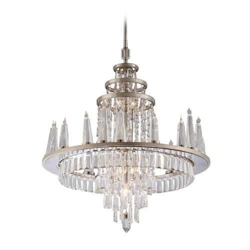 Corbett Lighting Corbett Lighting Illusion Silver Leaf Crystal Chandelier 170-08