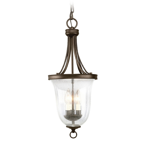 Progress Lighting Progress Mini-Pendant Light with Clear Glass in Antique Bronze Finish P3753-20