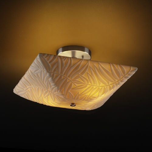 Justice Design Group Justice Design Group Porcelina Collection Semi-Flushmount Light PNA-9695-25-BMBO-NCKL