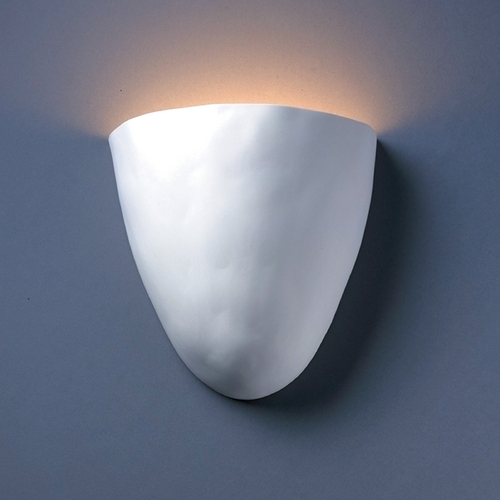 Justice Design Group Sconce Wall Light in Bisque Finish CER-2150-BIS