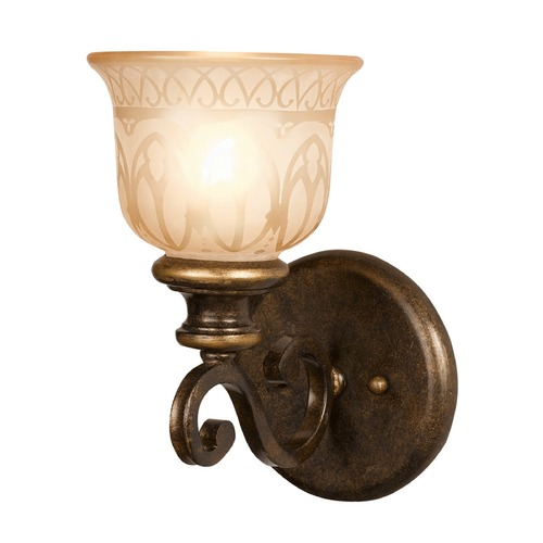 Crystorama Lighting Crystorama Lighting Norwalk Bronze Umber Sconce 7401-BU