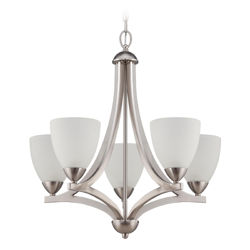 Craftmade Lighting Craftmade Hartford Satin Nickel Chandelier 37725-SN