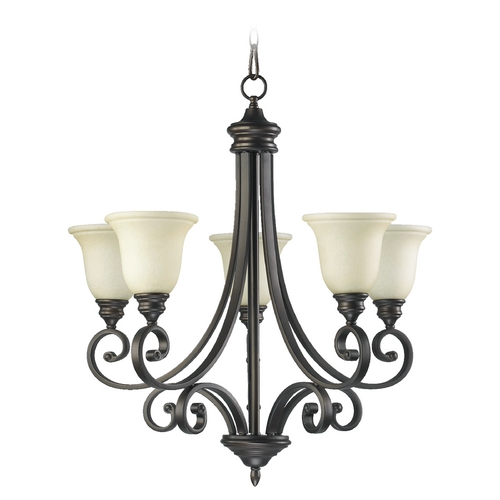Quorum Lighting Quorum Lighting Bryant Oiled Bronze Chandelier 6154-5-86