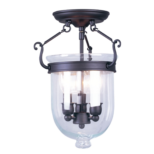 Livex Lighting Livex Lighting Jefferson Bronze Semi-Flushmount Light 5061-07