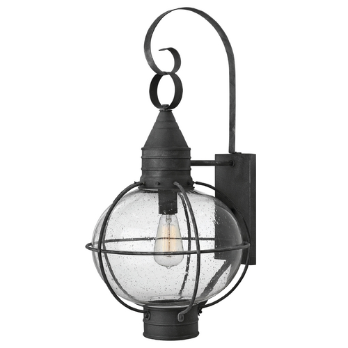 Hinkley Seeded Glass Outdoor Wall Light Zinc Hinkley 2205DZ
