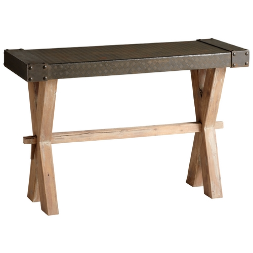 Cyan Design Cyan Design Mesa Raw Iron & Natural Wood Table 04955