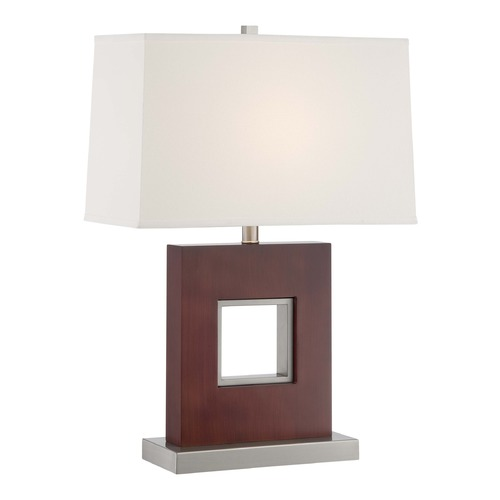 Lite Source Lighting Lite Source Kerry Polished Steel Table Lamp with Rectangle Shade LS-22699