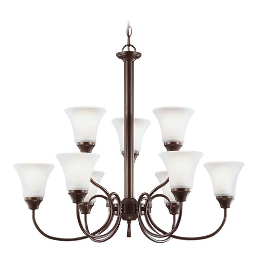 Sea Gull Lighting Sea Gull Lighting Holman Bell Metal Bronze Chandelier 31810-827