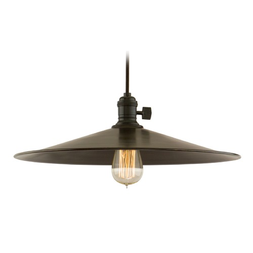Hudson Valley Lighting Hudson Valley Lighting Heirloom Old Bronze Pendant Light with Coolie Shade 8002-OB-ML1