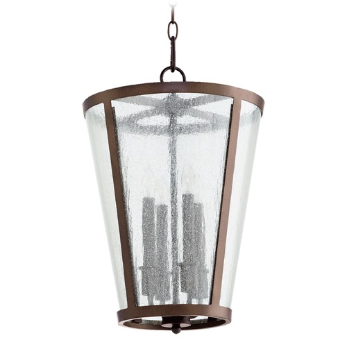Quorum Lighting Quorum Lighting Oiled Bronze Pendant Light with Empire Shade 689-4-86